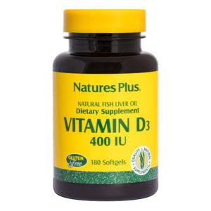 Vitamine D 400 I.U. # 180 softgels