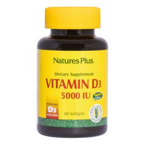 Vitamine D3 - 5.000 I.U. Cholecalciferol # 60 softgels