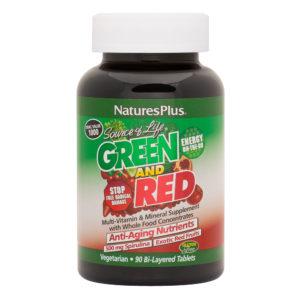 Source of Life Green & Red Tabs (Bi-Layered) # 90 duo-tabs