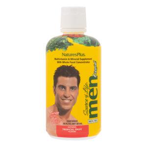 Source of Life MEN Liquid (groot) (Tropical Fruit) # 887ml fles