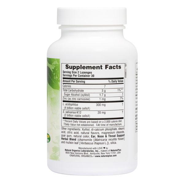 Nose & Throat Lozenges with K12 Probiotics (Tropical Cherry Berry) # 60 zuigtabletten