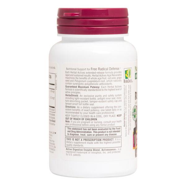 Acai & Resveratrol - 300 mg / 62